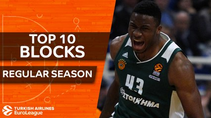 Turkish Airlines EuroLeague, Top 10 Blocks, Regular Season