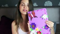 FUNDA protectora tablet o ipad GOMA EVA FOAMY mariposas y flores! Como hacer funda tablet DIY