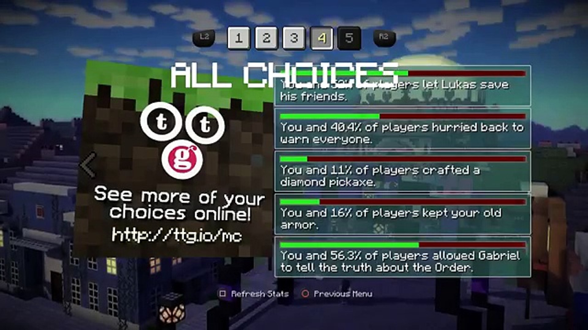 Minecraft Story Mode All Choices Episode 4 動画 Dailymotion