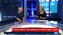 CLEARCUT   Syrian media : new missile strikes near Homs   Monday, April 16th 2018