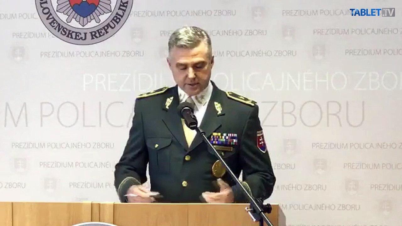 ZÁZNAM: Brífing prezidenta Policajného zboru Tibora Gašpara