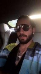 Maluma hot con su novia en el auto
