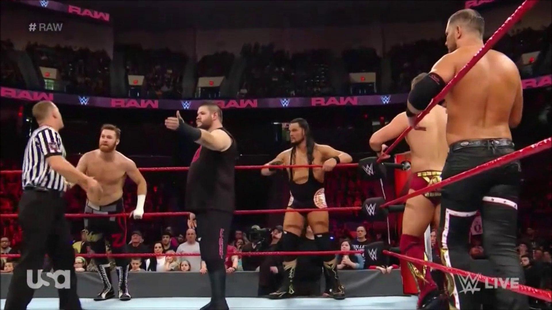 Raw: Seth Rollins, Braun Strowman, Bobby Lashley, Finn Bálor & Bobby Roode vs Sami Zayn, Kevin O