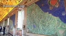 La Galería de los Mapas del Vaticano recupera su brillo original tras tres años de restauración