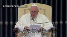 Francisco condena la guerra y pide el fin de las persecuciones y del tráfico de armas