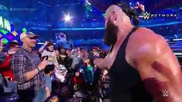 YOUNG FAN WINS TAG TITLES WITH STROWMAN.  Before challenging The Bar at WrestleMania for the Raw tag team titles, Braun Strowman chooses a young fan named Nicholas to be his partner, and the duo would win.