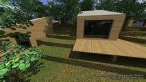 Résidence touristique Contemporaine écologique & performante RT 2012 en ossature bois par architecte DPLG en Corse