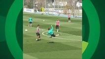 CR7 ataca novamente e faz golaço de voleio em treino do Real; assista