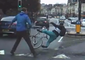 Dashcam Shows Pedestrians Tackle Knife-Carrying Cyclist Fleeing Cardiff Police