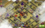 Clash of Clans TH10 vs TH10 Clan War 3 Star Attack Strategy Golem, Valkyrie, Bowler, Healer