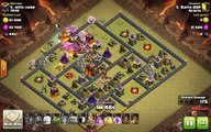 Clash of Clans TH10 vs TH10 Clan War 3 Star Attack Strategy Golem, Wizard, Valkyrie, Healer
