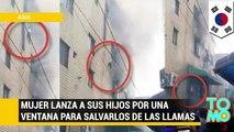 Mujer lanza a sus hijos al vacío para que no mueran durante incendio que consumió su edificio