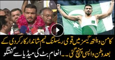 Pakistani Wrestlers return home from Commonwealth Games with victory medals