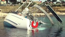 Le voilier échoué et la pilotine coulée