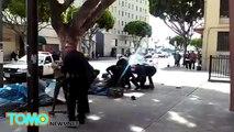 Policía de Los Ángeles da de baja a hombre sin hogar que intento tomar el arma de un oficial