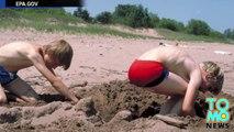 Túnel de arena colapsa, enterrando vivo a turista en una playa de Carolina del Norte