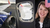Plane engine explosion breaks window, kills woman