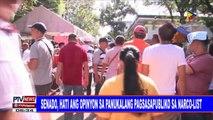 #PTVNEWS: Senado, hati ang opinyon sa panukalang pagsasapubliko sa narco-list`