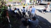 Ambiance avant le départ de la Flèche Wallonne