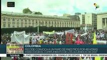Docentes colombianos convocan a paro ante incumplimiento de acuerdos