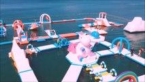 """Voici l'île de la Licorne gonflable géante """"Unicorn Island"""", le paradis des enfants"""