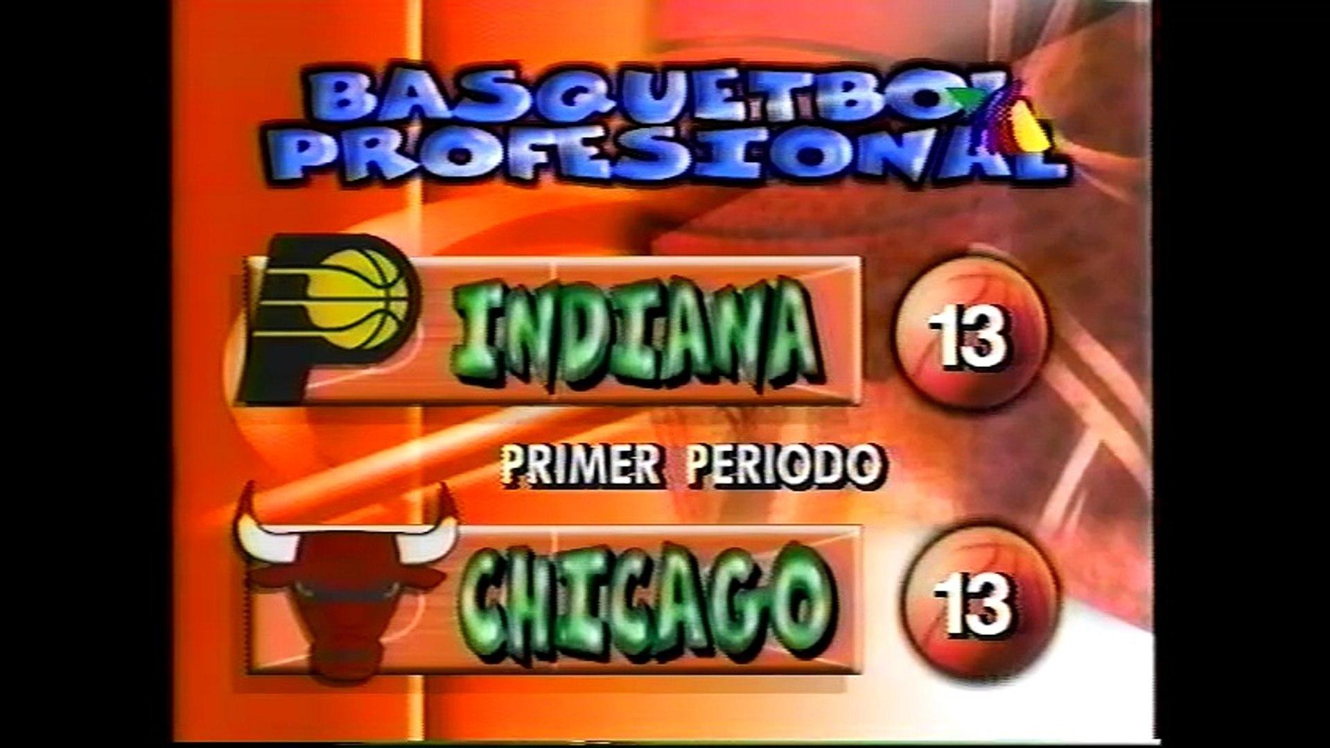 Partido TV Azteca Bulls vs Pacers 1996 Parte 1
