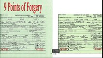 9 Points of Forgery Barack Obama Birth Certificate Fraud PROOF