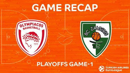 EuroLeague 2017-18 Highlights Playoffs Game 1: Olympiacos 78-87 Zalgiris