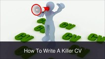 William Almonte - How to Write a CV For a Job Application