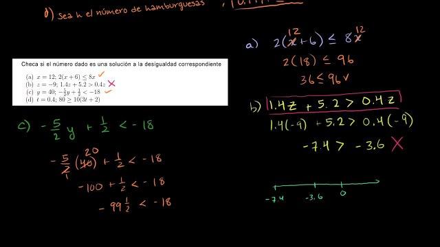 Ecuaciones y desigualdades
