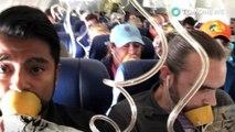 Wanita terhisap keluar dari pesawat di tengah penerbangan setelah mesin meledak - TomoNews