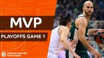 Turkish Airlines EuroLeague Playoffs Game 1 MVP: Nick Calathes, Panathinaikos Superfoods Athens