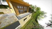 Villa BBC écologique & contemporaine RT 2012 en Ossature Bois + parement & maçonnerie en Corse