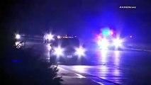 Californie : Une voiture s'arrête au milieu d'une auto-route et provoque le chaos dans la circulation !