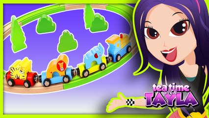 Preschool Educational Train for Kids | Learn Animals and Colors for Children with Tayla