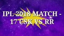 Dream11 Prediction of 17th Match of IPL 2018 Season - Chennai Super Kings Vs Rajasthan Royals | TEAM PLAYING 11 chennai super kings vs rajasthan royals