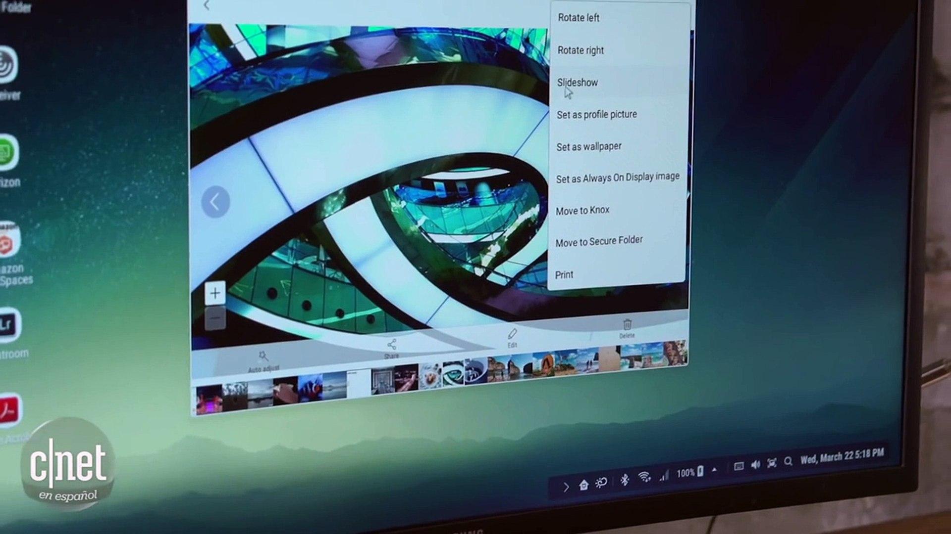 Samsung DeX: Usa el Galaxy S8 como computadora de escritorio