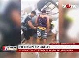Helikopter Jatuh dan Hancur di Morowali
