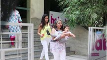 Misha Kapoor SPOTTED Exiting Art Class In Grandma's Lap While Mommy Mira Rajput Carries Her Artwork