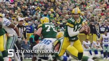 Top 10 Aaron Rodgers Playoff Throws