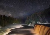Stunning Timelapse Captures Milky Way Over Tahquamenon Falls