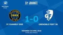 J31 : FC Chambly - Grenoble Foot 38 (1-0), le résumé