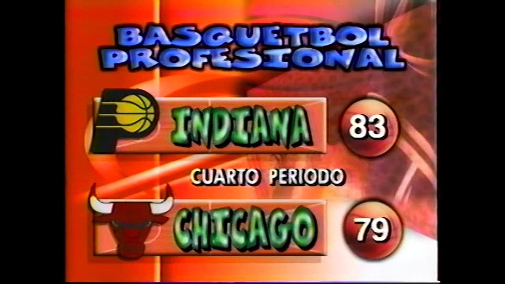 Partido TV Azteca Bulls vs Pacers 1996 Parte 4