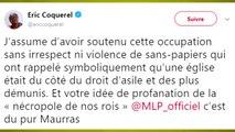 """Le député La France insoumise Eric Coquerel va porter plainte après avoir été entarté à Colombes par """"Action Française"""""""