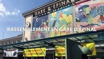 Epinal : rassemblement pour le maintien du service ferroviaire dans les Vosges