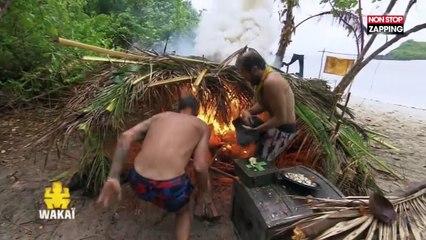 Koh-Lanta All Stars : Les jaunes mettent accidentellement le feu à leur cabane (Vidéo)