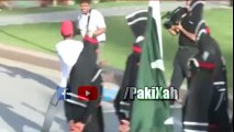 Hassan Ali demonstrates his Signature Style during Wahga Border Ceremony