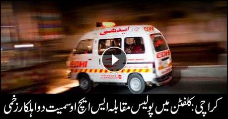 Two policemen injured in encounter in Karachi