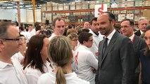 Edouard Philippe visite l'usine Seb