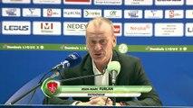 Réaction de Peter Zeidler et Jean-Marc Furlan après FC Sochaux-Montbéliard - Stade Brestois 29